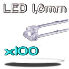 352/100# LED blanche 1,8mm 100pcs --- 3000mcd