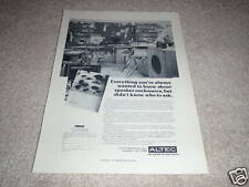 Altec Speaker Ad from 1975, Rare one! details cabinets