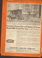 1921 VINTAGE MAGAZINE AD #00162 -  KEYSTONE STEAM SHOVEL