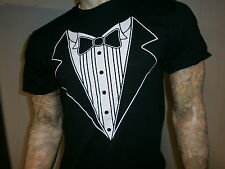TUXEDO T SHIRT Novelty Black Tie Affair American Commodore Tux MED