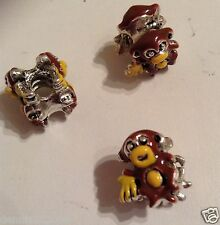 Enamel double sided monkey stopper spacer charm bead  x 1 European ANIMALS E98