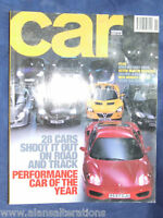 CAR Magazine November 2000 Performance Car of the Year 20 CAR SHOOT OUT
