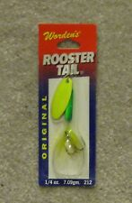 worden rooster tail lure new 1/4oz 212 lich green yellow lime chartreuse