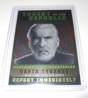 Star Wars Threat to the Republic Insert Trading Card #3 Darth Tyranus
