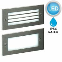 Modern Outdoor Stainless Garden Recessed Wall LED Brick Light - 1, 2, or 4 pack