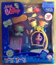 Littlest Pet Shop Turtle & Bird Fanciest Playset 922 923 Hasbro 2008