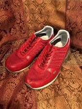 Dkny Shoe 8.5 Red Bison Leather Man Made Fashion Sneaker 23327801
