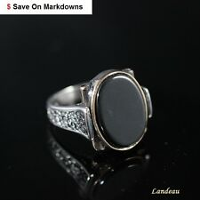 7.8 ct Natural Onyx Men's Silver Ring