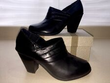 Lk Nw Black Ankle Boot ME TOO Genuine Leather Size 10 M Tall Heal MSRP $185