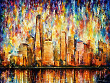 "New York —  Oil Painting On Canvas By Leonid Afremov. Size: 40""x30"""