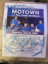 Vintage Funk Brothers Autograph Original Members RARE