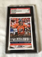 Peyton Manning HAND SIGNED ON CARD 2013 Score SGC COA VERY RARE MINT CONDITION