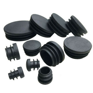 16 to 25mm Round Plastic End Cap Caps Tube Blanking Pipe Inserts Plug Bung Black