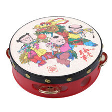 Mini Kids Hand Drum Wooden Musical Beat Percussion Instrument Gifts D