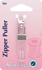 Hemline -Zipper Puller Transparent Rectangle. Attach to Zip - Pack 1