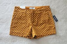 Brand New! Old Navy Mustard White Polka Dot Shorts Womens Size 2 Stretch Summer