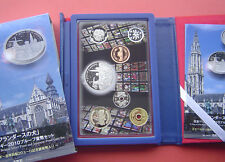 Japan 2010 6 Coins Proof Set and A Dog of Flanders Belgium 925Silver Proof Coin