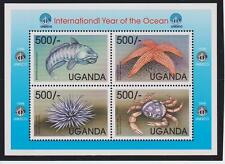 Uganda International Year of the Ocean Sheets & S/S's MNH Scott 1595-1598