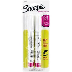 Sharpie MEDIUM Point Oil-Based Opaque Paint Markers 2/Pkg - White