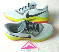Nike Mens Air Zoom Pegasus 36 Trail Running Shoes Aura Blue Green Size 9.5 NEW