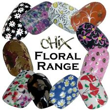 Floral Flowers CHIX NAILS Daisy Summer Vinyl Nail Wraps Fingers Toes Foils Decal