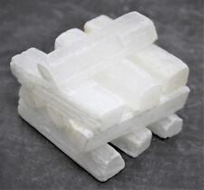 "10 Selenite Sticks / Sticklets: 3"" (Crystal Healing Grid Cleansing Wand Blade)"
