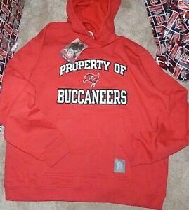 NEW NFL Tampa Bay Buccaneers Hoodie Hooded Sweatshirt Men XL X-Large NEW NWT