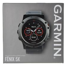 Garmin Fenix 5X Sapphire Multisport GPS Watch with Mapping Wrist HR Slate Gray