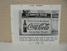 Vintage COCA-COLA PHOTO from COLA CALL Thirst Knows no Season Ad