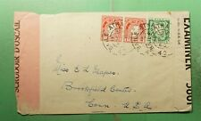 DR WHO 1945 IRELAND TO USA WWII DUAL CENSORED *FRONT ONLY? g40533