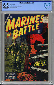 MARINES IN BATTLE #21  CBCS 6.5 - EXTREME RARITY: ONLY 1 ON CGC CENSUS - 1958