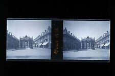 L'arc de triomphe de la place Stanislas Nancy France Plaque stéréo NÉGATIF