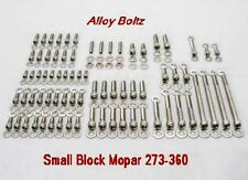 MOPAR SMALL BLOCK 273 318 340 360 STAINLESS STEEL ENGINE ALLEN BOLT KIT