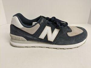 New Balance ML574 ESQ Sneaker, Navy, Men's 13 M