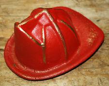 Cast Iron FIREMAN Helmet Hat Door Stop Fire Rescue Fire Fighter Paper Weight RED