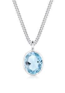 Topas Basic Halskette Blau 925er Silber Edelstein von Elli Neu
