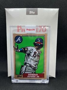 Ronald Acuna Jr 2021 Topps Project 70 Card #56 1987 By Blake Jamieson Braves