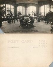 Elizabethtown Lancaster Masonic Homes Conservatory Antique Photo Postcard Rppc