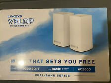 Linksys Velop Whole Home WiFi Dual Band Mesh Ac2600 WHW0102