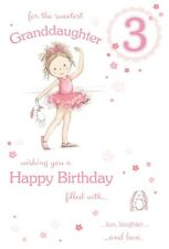 GRANDDAUGHTER 3rd BIRTHDAY CARD AGE 3 QUALITY CARD WITH BEAUTIFUL VERSE