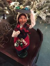 Byers' Choice Carolers-woman selling Glass Ornament 2014