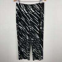 TS Taking Shape Womens Pants 14 Black Elastic Waist Straight