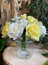 Ribbed Glass Vase Decorative Flower Pot Container Vintage Wedding Centrepiece