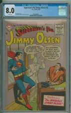 SUPERMAN'S PAL JIMMY OLSEN #12 CGC 8.0 WHITE PAGES