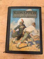 "1913 R L STEVENSON ""KIDNAPPED"" ILLUSTRATED LARGE HARDBACK BOOK"