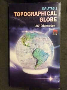 Jet Creations 16 inch Inflatable Globe of The World, Raised Topographic Map