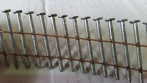 Wire Collated Coil Nails. Galvanised.Conical (Dome shape) 16 Degree 27mm - 50mm