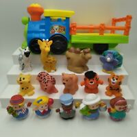 Fisher Price Little People Zoo Train Wagon Music Sounds 9 Animals 5 People Lot