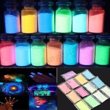 13Pcs Glow in the Dark Powder Luminous Fluorescent Pigment Strontium Aluminate