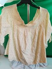 Blouse Hippie Laundry Cream with Pink SZ 3X Light Weight Orig $54.00 NWT NEW